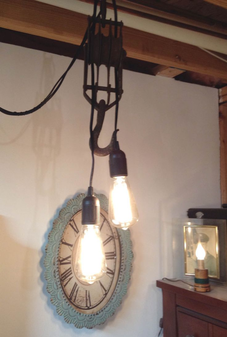 Our vintage bulbs and pendant light kits were used to create cool industrial lights. Customer TW says  Used it to make a couple antique pulley lights. & 173 best Reviews + Testimonials images on Pinterest | Globe string ...