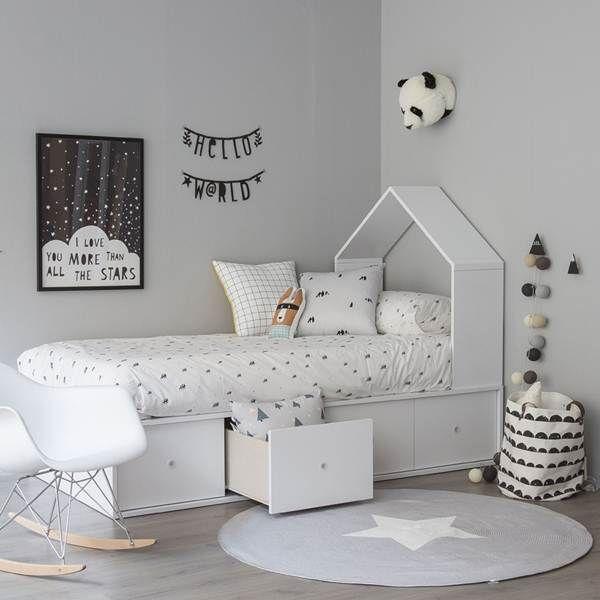 Estilo nórdico en dormitorios infantiles Más