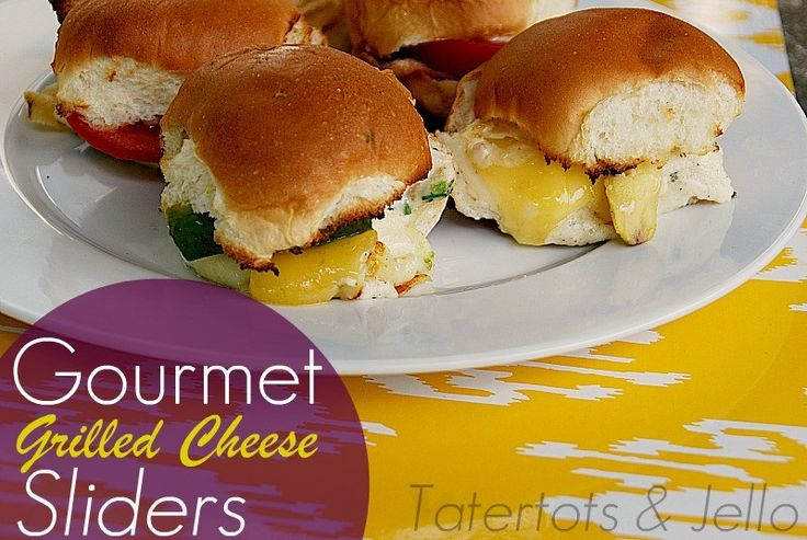 gourmet grilled cheese sliders plate