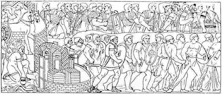 82 De Romeinse soldaten fourageren.