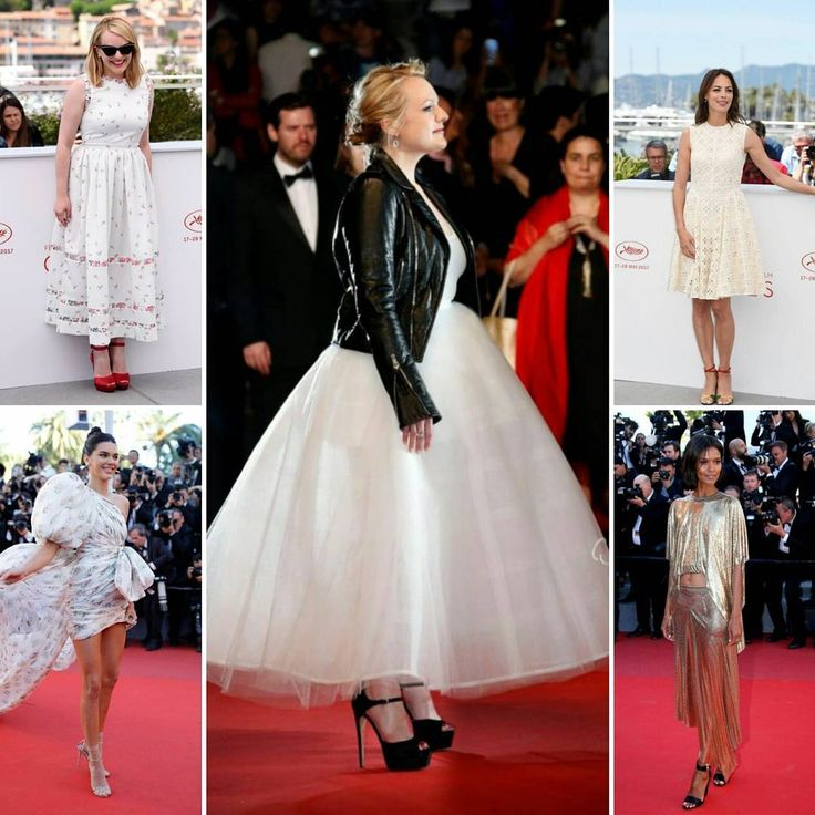 Elisabeth Moss in #bridal #oscardelarenta with the perfect leather biker jacket thrown on is just what we needed this Monday morning ��. Her floral white dress would be perfect to greet guests the day before your #wedding. For more eye-catching #weddingdress, the #CannesFilmFestival brought us #LiyaKebede in #PacoRabanne and #KendallJenner in #giambattistavalli whereas #BereniceBejo kept is casual and demure in broderie anglaise. . . #redcarpet #redcarpetready #movie #elizabethmoss…