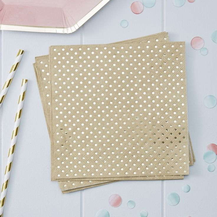 Gold Foiled & Kraft Paper Napkins - Pick and Mix