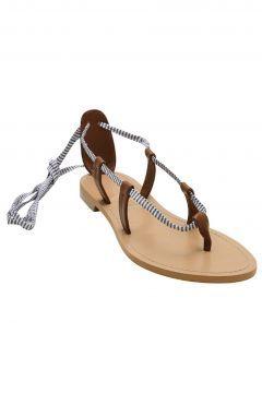 Yargıcı Kadın Lacivert-Beyaz Çizgili Sandalet https://modasto.com/yargici/kadin-ayakkabi-sandalet/br14778ct19