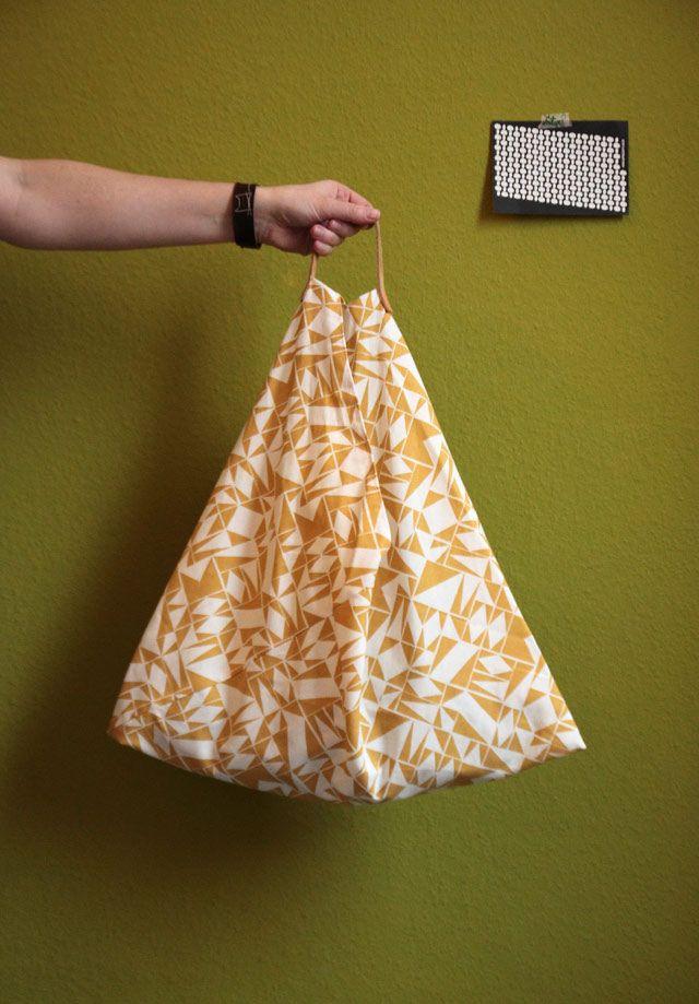 Dreieckstasche – wenig Stoff, viel Stauraum | Mo*moselle