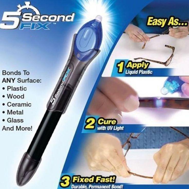 Useful 5 Second UV Light Fix Liquid Pen Glass Welding Compound Glue Repairs Tool