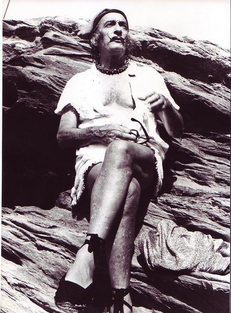 Salvador Dali wearing alpargatas