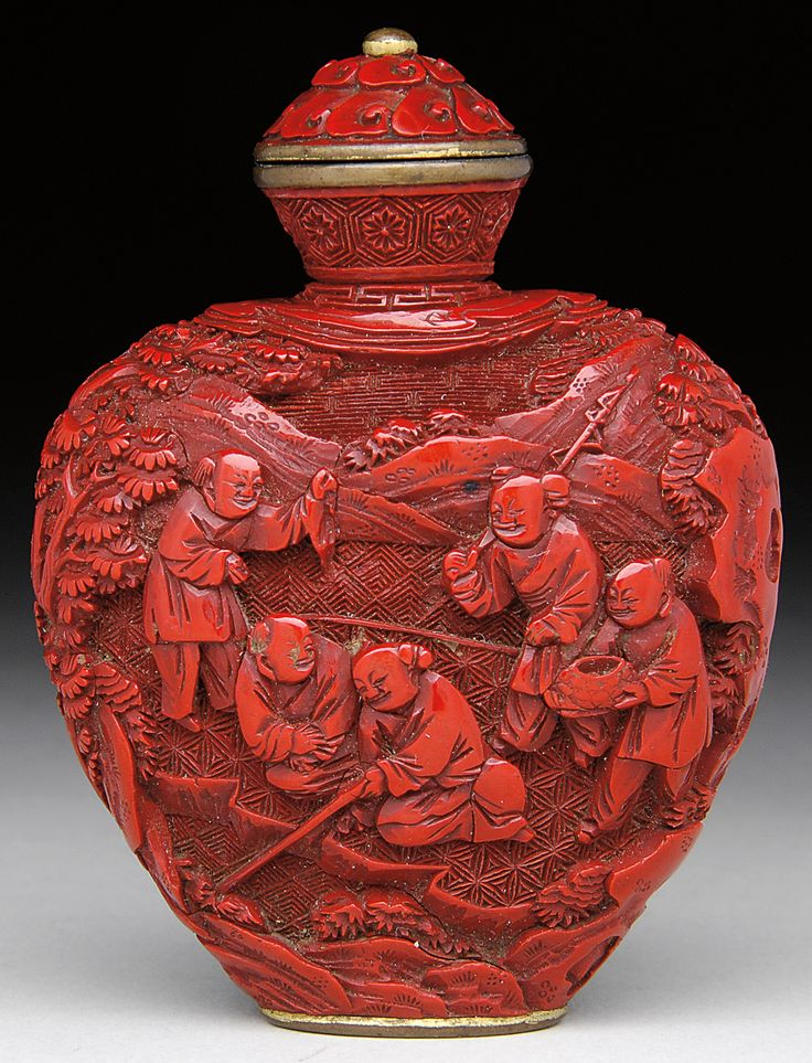 Wow...I do not have a snuff bottle anything like this...SO beautiful the details and color!
