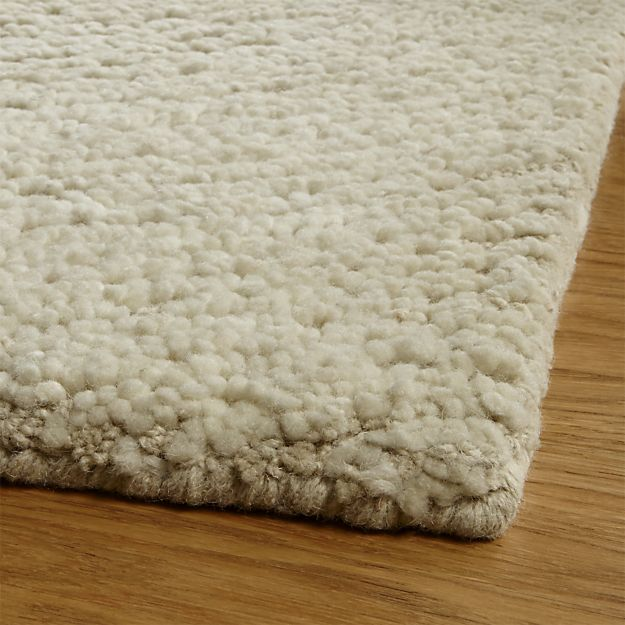 Alfredo Ivory Wool Rug. Crate And BarrelWool RugsCratesArea ...