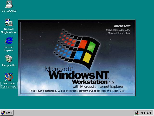 Windows NT 4.0 24 August 1996