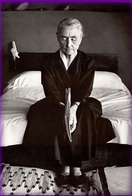 Georgia O'Keeffe by Annie Leibovitz. Yet another of Anne's classic shots.
