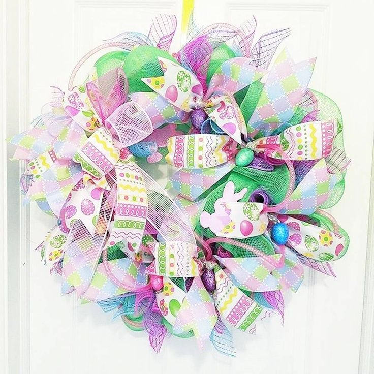 A must-have for Easter decor. This colorful spring wreath from @wreathsbygram is perfect for greeting friends and family at the door. It could also brighten up any room. www.wreathsbygram.etsy.con  .  #easterwreath #springwreath #wreathsbygram #wreaths #wreathmaking #interiordecoratingideas #interiordesigners #easterbunny #eastereggs #eastergift #happyeaster #springtime #springstyle #springiscoming #instaspring #springhassprung