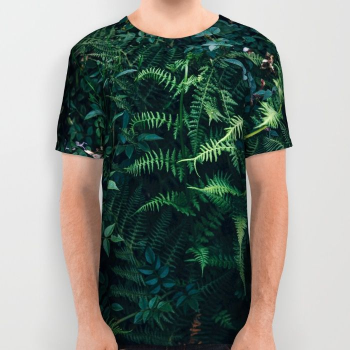 Fleurs Vertes All Over Print Shirt by Mixed Imagery | Society6