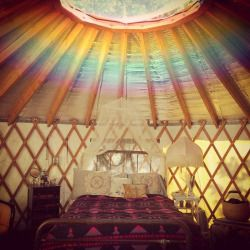 love rainbow beautiful summer hippie bedroom design inspiration boho bed travel tent bohemian Interior Design summertime details interiors decor interior decorating gypsy bedding Camping dreamy wanderlust summer days boho style glamping yurt gypset summer vacation