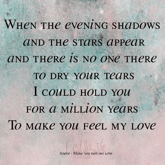 Adele - Make you feel
