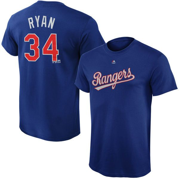 Nolan Ryan Texas Rangers Majestic Youth Cooperstown Collection Name & Number T-Shirt - Royal - $21.99
