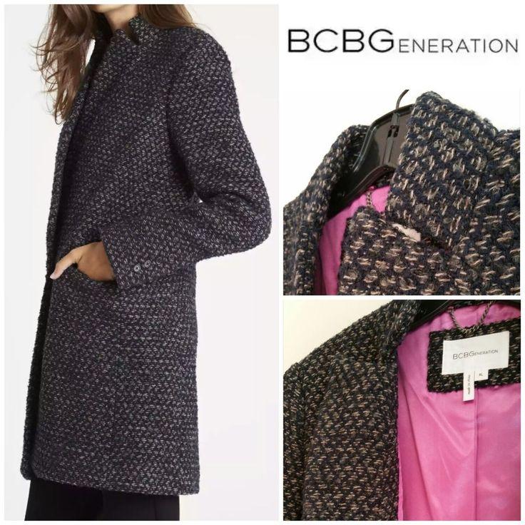 BCBGeneration Oversized Wool Blend Navy Coat - Size XL NWT #BCBGeneration #OversizedWoolCoat