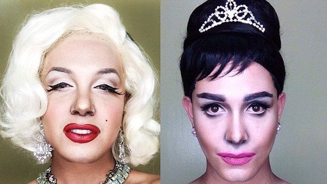Paolo Ballesteros transforms his appearance into female celebrities using only make up and wigs.