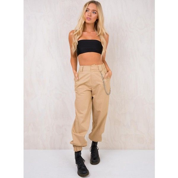 I.AM.GIA Cobain Pants Beige ($83) ❤ liked on Polyvore featuring pants, leggings, calf length leggings, pink leggings, beige leggings, calf length pants and mid calf pants