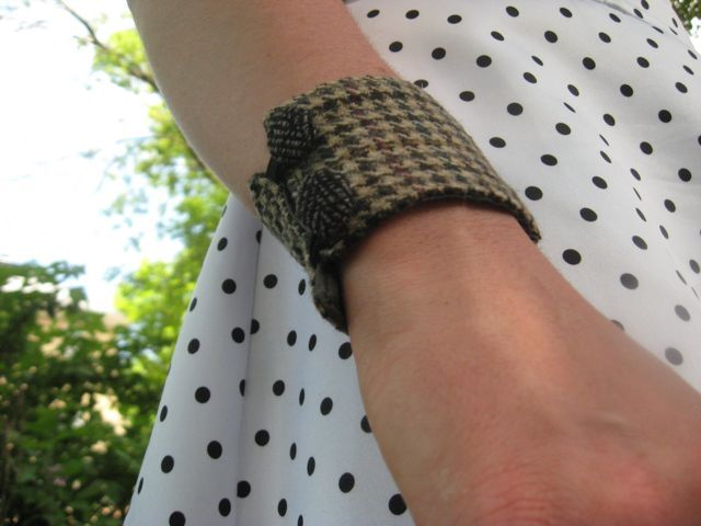 Houndstooth cuff by morgan cleopatra