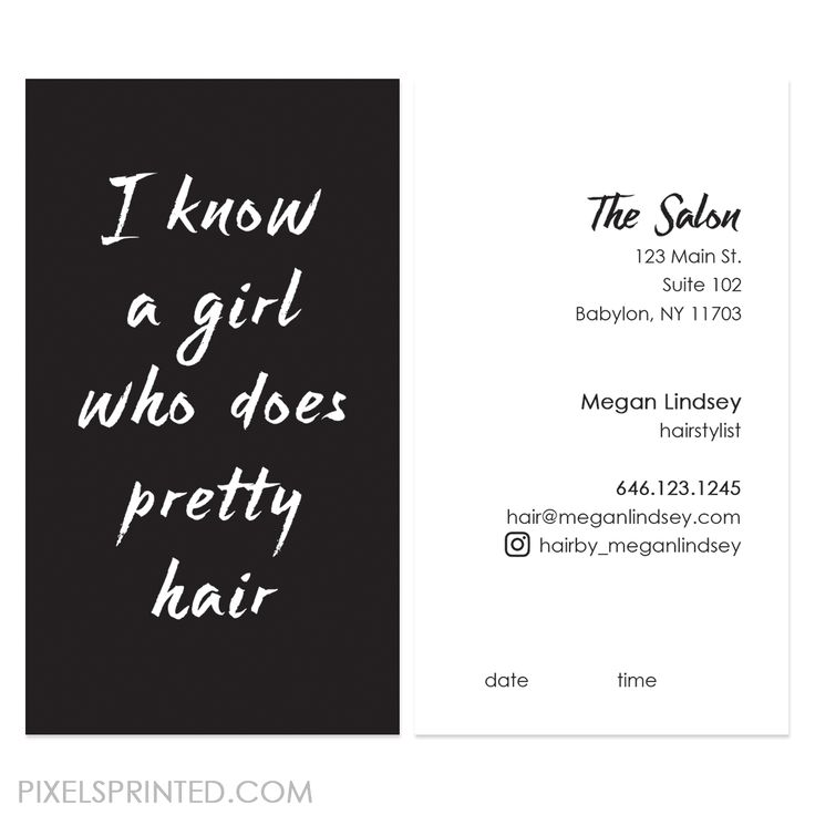 shop clean and catchy designs perfect for both hair salons and freelance hair professionals - Freelance Hair Stylist