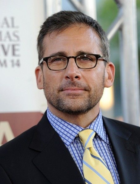 So, this is a recent picture of Steve Carell ...with facial hair...and glasses. You wear age well, my friend...damn well.