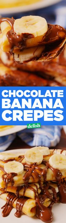 You don't need to be an expert to make these Chocolate Banana Crepes. Get the recipe from Delish.com.