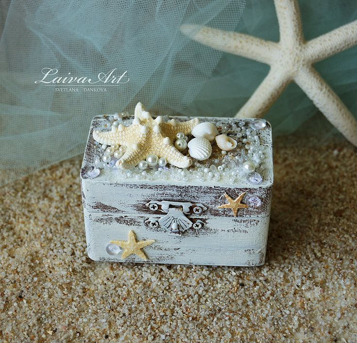 Beach Wedding Ring Box Custom Ring Box Rustic Ring Bearer Ring Box Personalized…