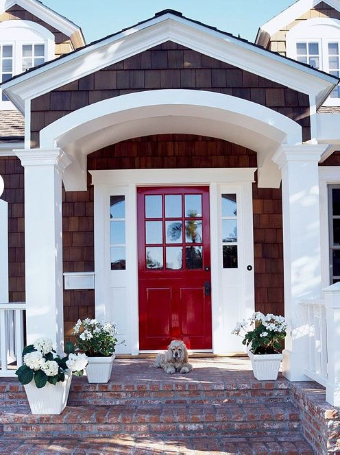 Dark Red Front Door 1603 best home: front door images on pinterest | front door colors
