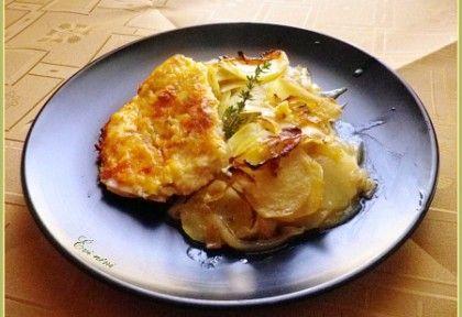 Csirkemell rétegezett hagymás burgonyával | NOSALTY – receptek képekkel