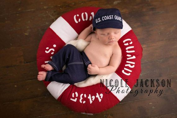 Coast Guard Baby Military Cap by KaseyCreations on Etsy
