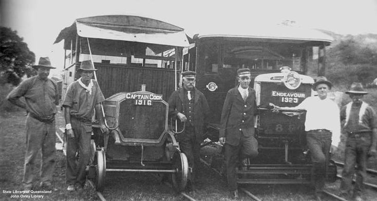 Picture of / about 'Cooktown' Queensland - Railway carriages at the Cooktown Railway, Queensland, 1929