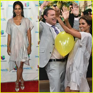 Halle Berry Gets Silly on the Set of 'Despierta America'
