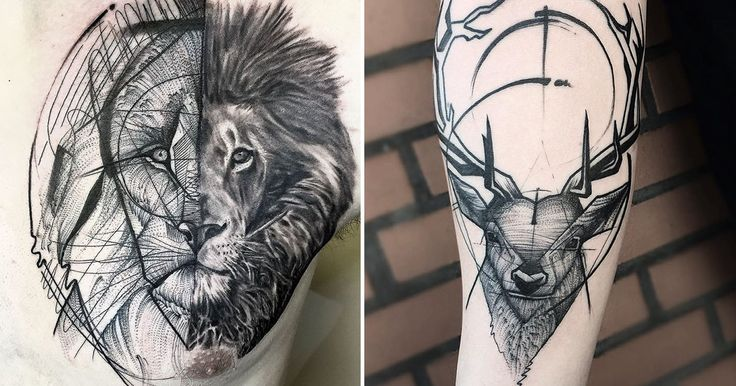 Sketch Tattoos By Frank Carrilho Show The Beauty Of Imperfection - 9GAG