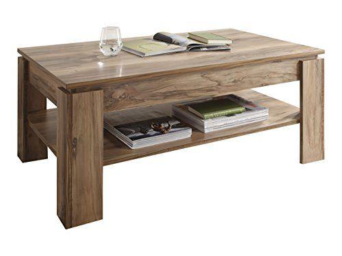 Trendteam 1100 112 60 Couchtisch Wohnzimmertisch Tisch Montreal In Nussbaum Satin Nachbildung 110