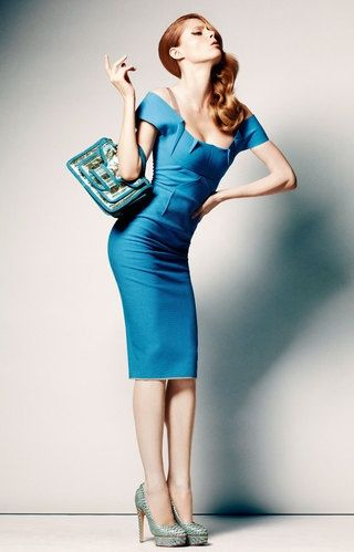 Coco Rocha in a gorgeous blue dress