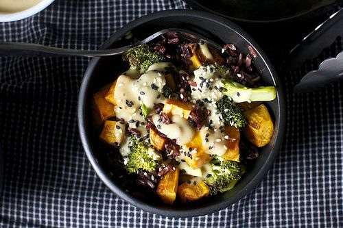 Miso Sweet Potato and Broccoli Bowl | 27 Awesome Easy Lunches To Bring To Work