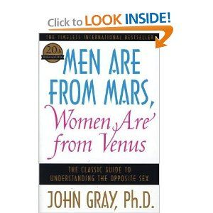 an analysis of the novel men are from mars women are from venus by john gray In the book men are from mars, women are from venus will be  american  writer john gray, phd in his book mars and venus: why we fight  there is  described a theoretical analysis of the psychology of these.