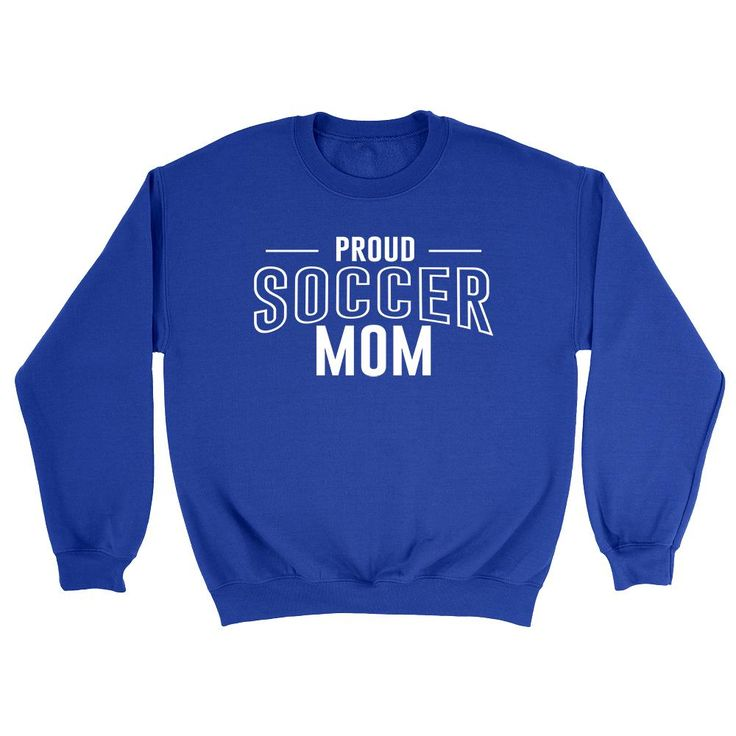 Proud soccer mom team squad game day sport mom love soccer Mother's day Crewneck Sweatshirt