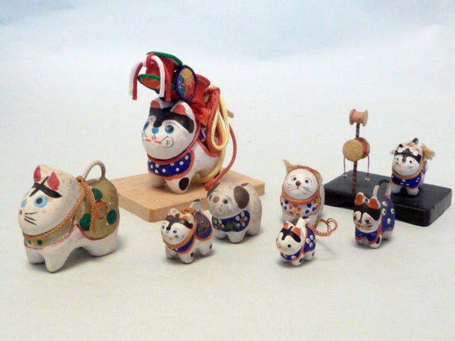 Rare collectible vintage Miniature Japanese Inu Hariko Papier-Mache Dog Doll Toy, sold 11/23/15 eBay $96
