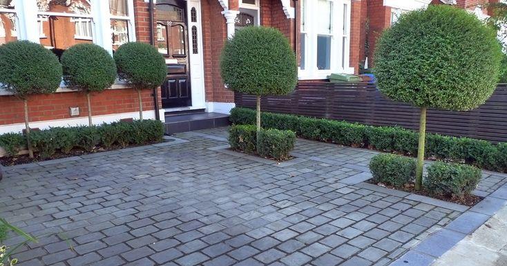 Paved Front Garden Design