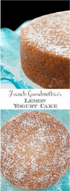I made this delicious French Grandmother's Lemon Yogurt Cake a few weeks ago a… – Natalie Recipes