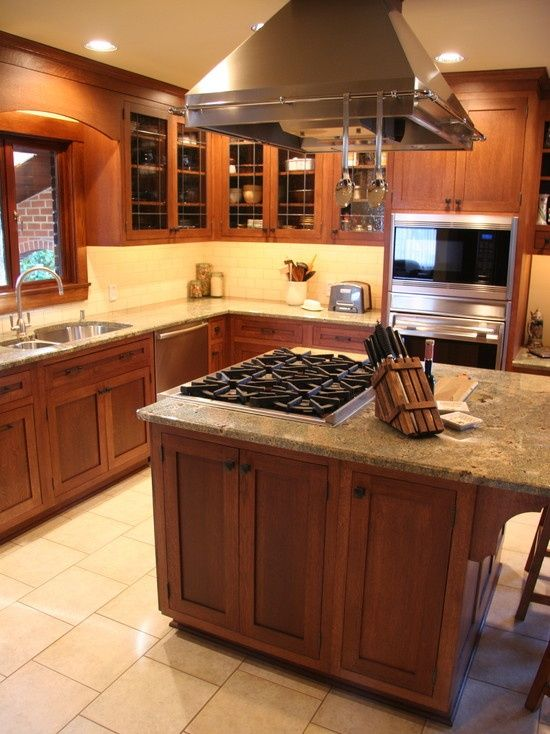 24 best images about kitchen cooktops on pinterest stove for Oak kitchen ideas designs