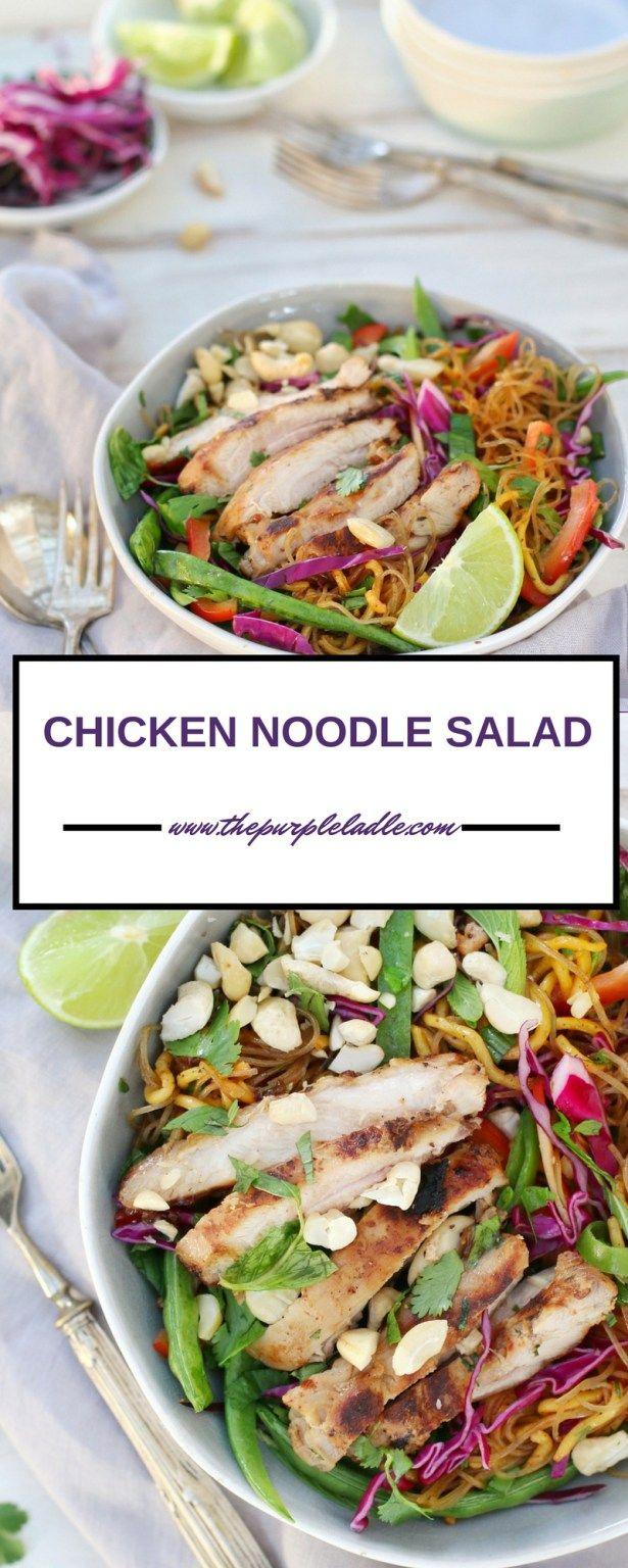 CHICKEN NOODLE SALAD - The Purple Ladle