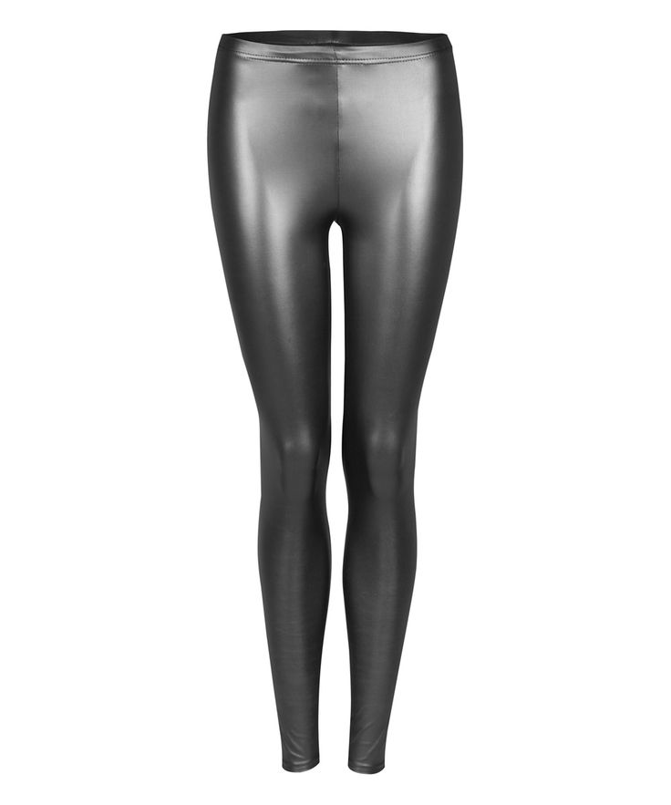 Dex Black Shiny Leggings   zulily #streetstyle