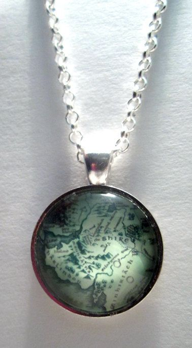 Middle Earth Map Necklace - Lord of the Rings Necklace, Lord of the Rings Jewelry via Etsy