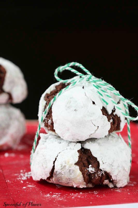 Chocolate Crinkle Cookies - sugar coated chocolate cookies!