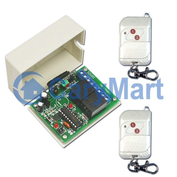 2 Channel RF Wireless Remote Control with Memory Function DC 6V/9V/12V/24V
