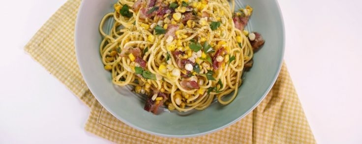 Spaghetti with Corn, Bacon and Jalapeno - I now make this every 1-2 weeks.  Love it with angel hair pasta.
