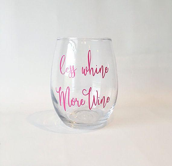 Stemless Wine Glass Funny Wine Sayings Wine Glass