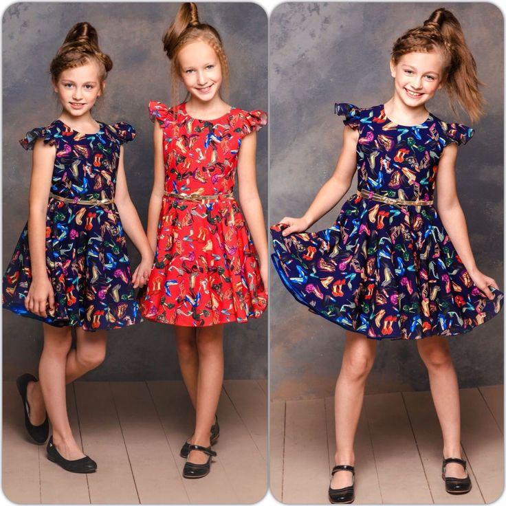 """Красное платье для девочки """"Маленькая мисс""""."""